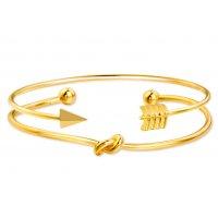 B644 - Knot knotted arrow two-piece bracelet