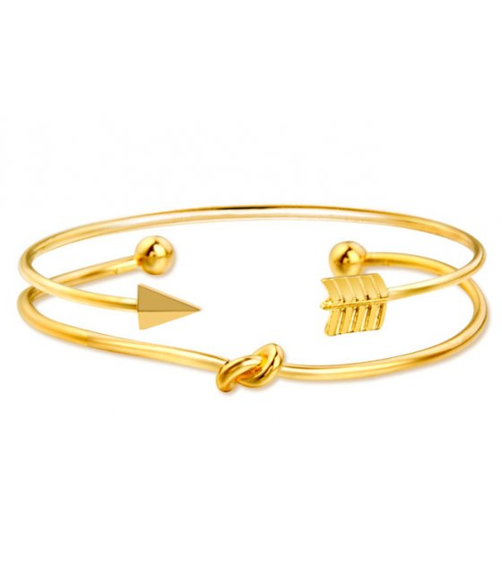 B644 - Knot knotted arrow two-piece bracelet