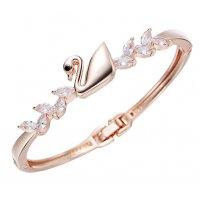 B684 - Swan zircon rose gold bracelet