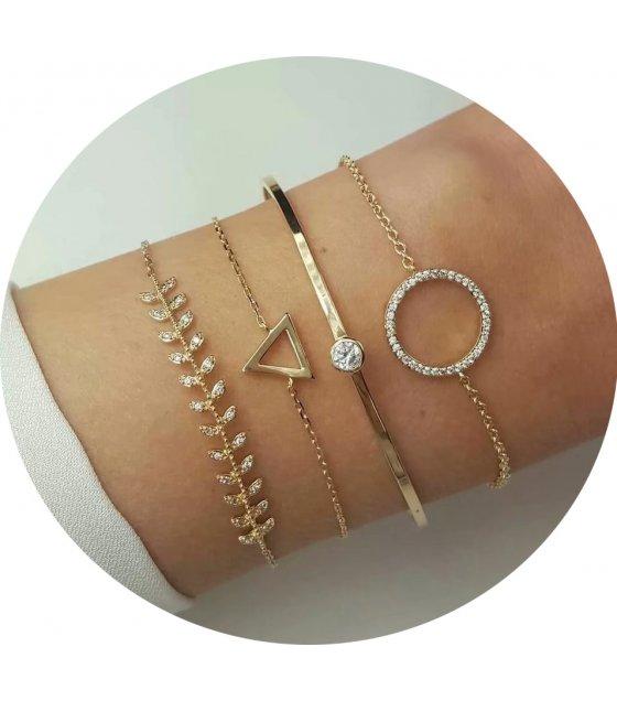 B688 - Hollow circle triangle bracelet