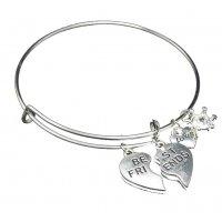 B698 - Best Friends alloy pendant bracelet