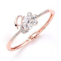 B705 - Zircon Cuff Swan Bracelet