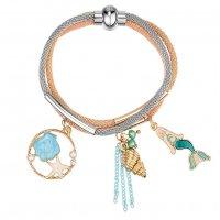 B713 - Pearl geometric mermaid alloy bracelet