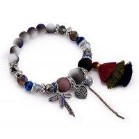 B717 - Boho gradient mixed beads bracelet