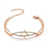 B763 - Hollow Gold Bracelet