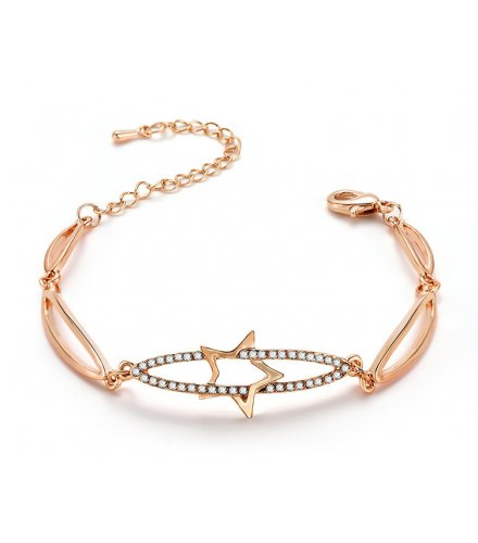 B763 - Hollow Gold Bracelet