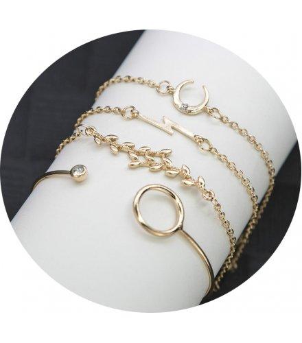 B783 - Retro Leaf Bracelet Set