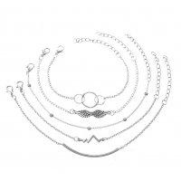 B786 - Beaded round tube 5-piece set bracelet