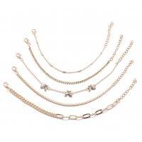B789 - Diamond butterfly copper chain Bracelet