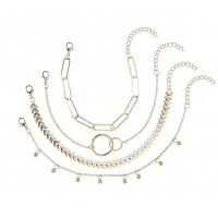 B797 - Simple new geometric chain Bracelet
