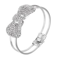B811 - Bow simple spring open bracelet