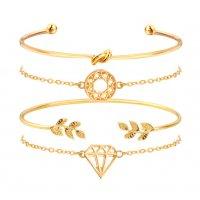 B816 - Carved hollow bracelet set