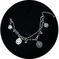 B819 - Double Smiley Bracelet