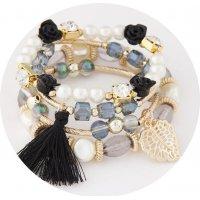 B827 - Multilayer Bohemian Beaded Bangle Bracelet