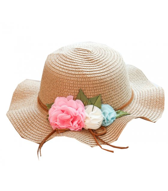CA031 - Fold-able flower bow beach hat