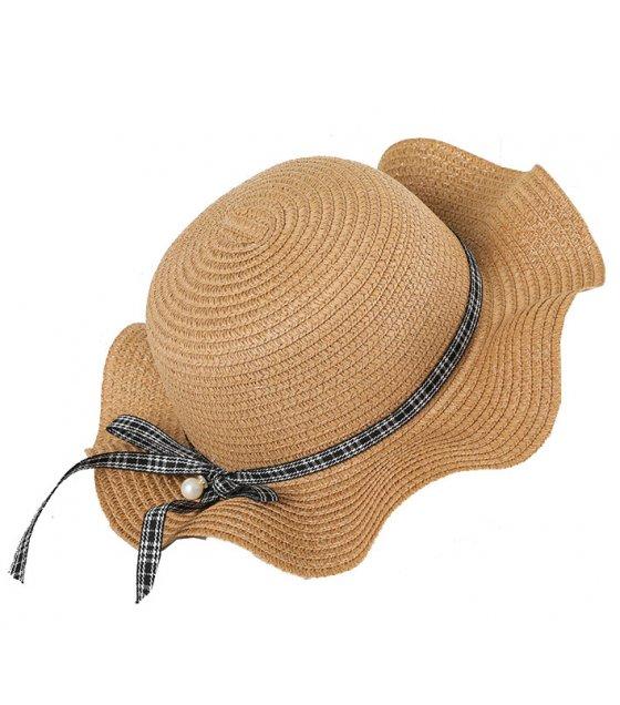 CA061 - Summer girl straw wave along straw hat