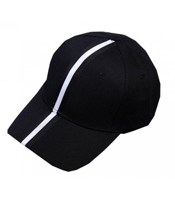 CA063 - Striped long belt baseball cap