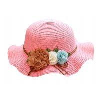 CA070 - Fold-able flower bow beach hat