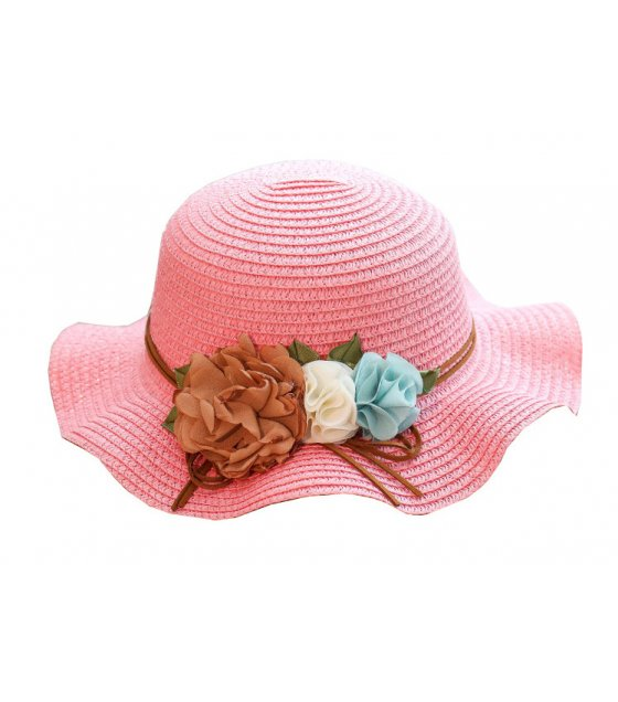 CA070 - Fold-able flower bow beach hat