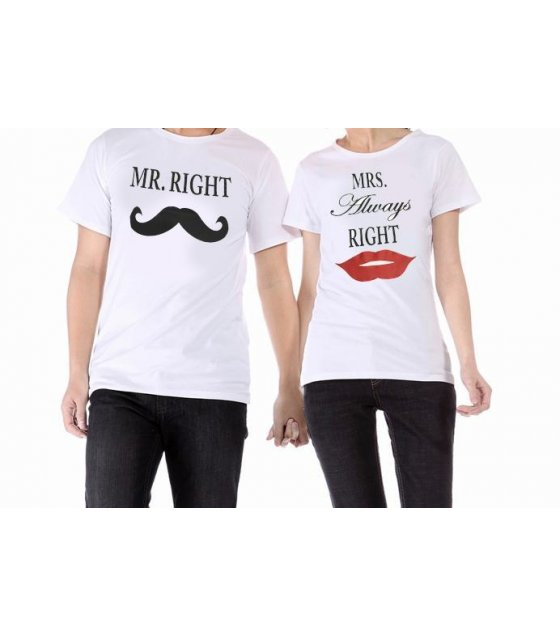 CT004LM - Valentines Couples Tshirt (Men)