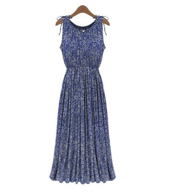 C002L - Bohemian Blue Dress