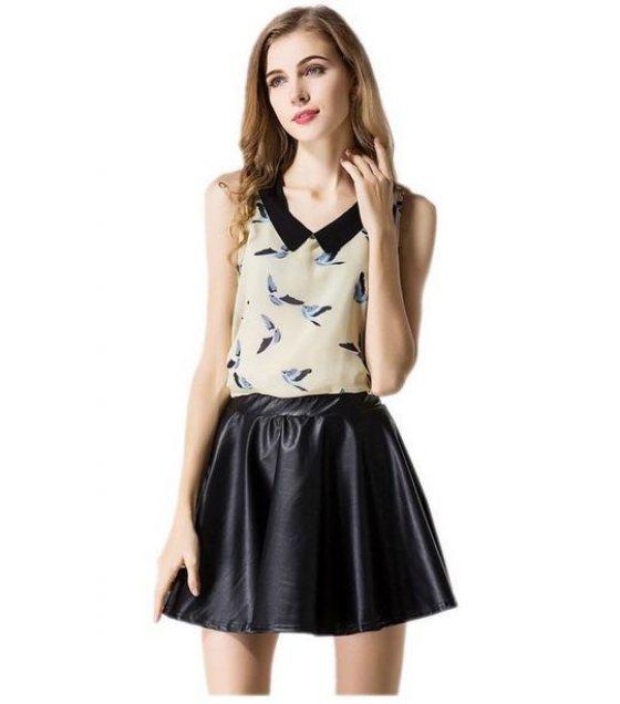 C052M - Sleeveless  chiffon Shirt