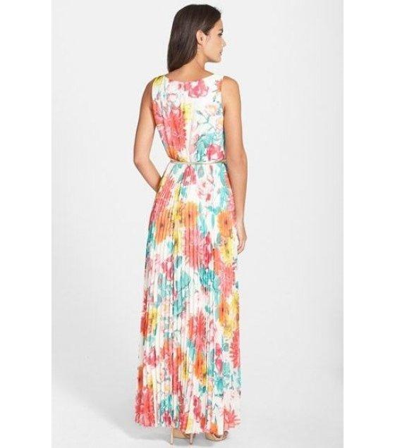 C115L- Long Floral Dress