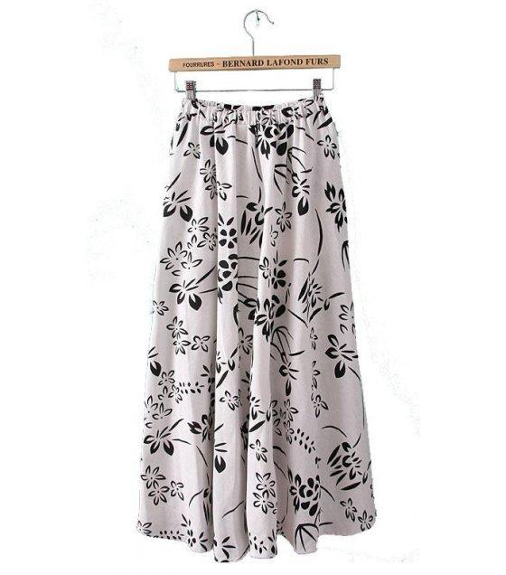 C137 - Wind cotton beach dress printed skirt