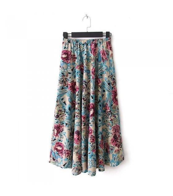 C139 - Wind cotton beach dress printed