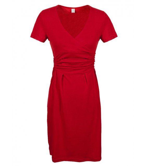 C157 - Slim Hip V-neck stretch dress