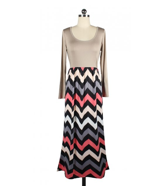C176M - Wavy stripe dress