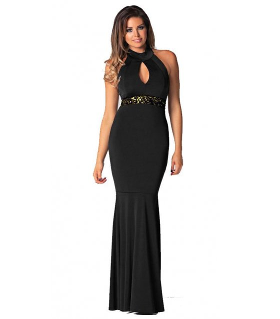 C177L - Black Sleeveless Dress
