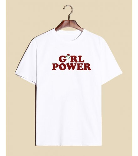 C251 - Girl power letter T-shirt