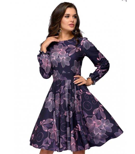 C257 - Floral-Print Midi Dress