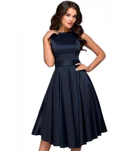 C259 - Elegant Vintage Dress with Tied Waist