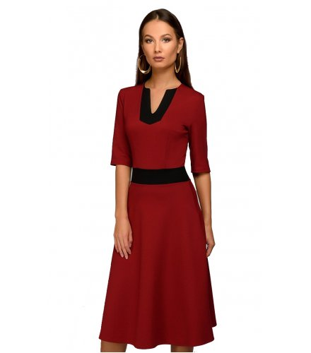 C260 - Spring Half Sleeve V-Neck Dress