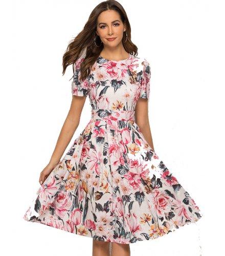 C263 - Women's floral print dress