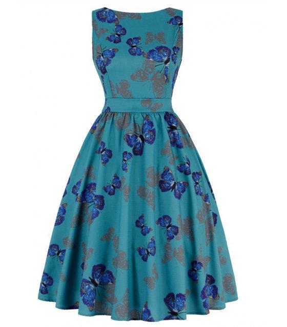 C266 - Sea Green Butterfly Dress