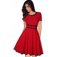 C270 - Short-sleeved waist slimming dress