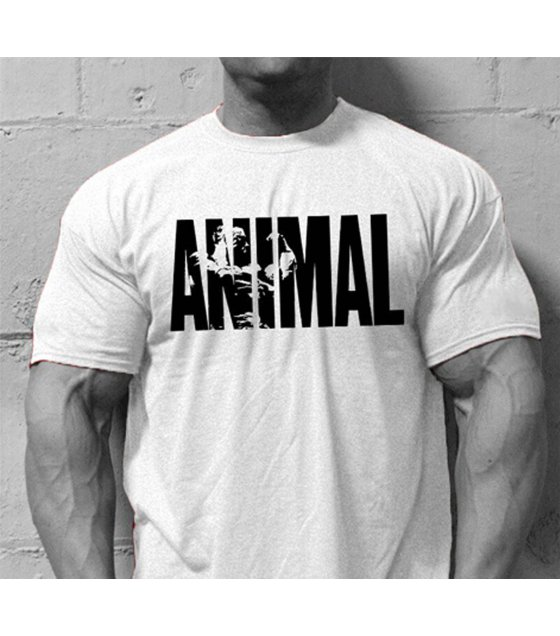 MR008 - Animal White sport men T shirt