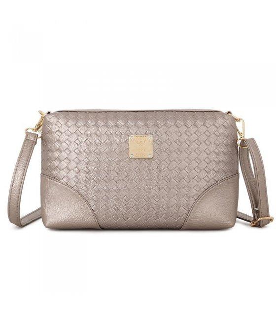 CL125 - Gold weave pattern shoulder bag