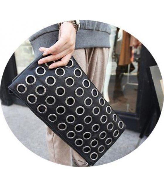 CL138 - Wave of female fashion vintage shoulder clutch