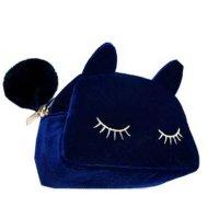 CL157 - Blue Kitty Clutch