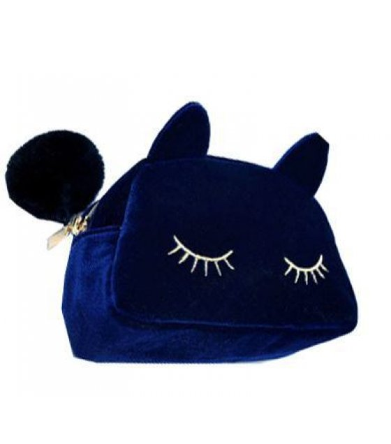 CL157 - Blue Kitty Clutch