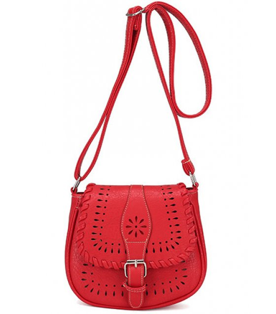 CL284 - Carved Red Women's Clutch