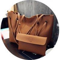 CL324- Luxury Brown Clutch Set