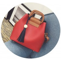 CL329 - Retro casual wooden beads fringed bag