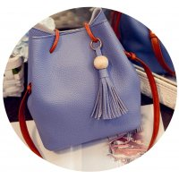 CL332 - Wooden beads bag