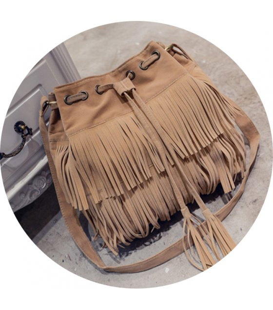 CL345 - Tassel bucket shoulder bag