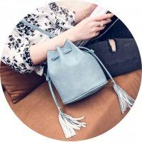 CL363 - Diagonal Bucket Bag